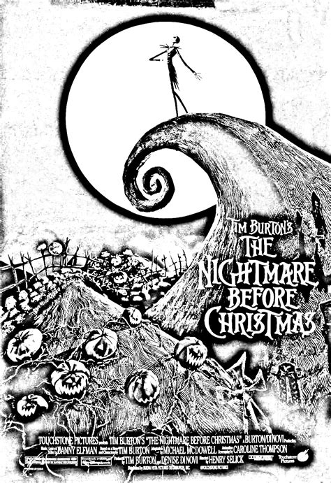 tim burton s the nightmare before coloring book for everybody coloring pages for adults coloring l