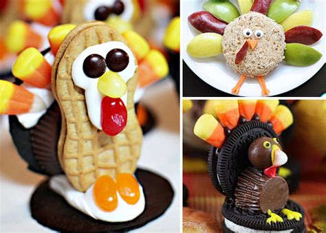 ideas for thanksgiving adorable turkey treats to make for on thanksgiving