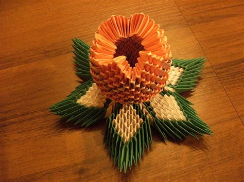 3d origami simple 3d origami lotos flower how to make
