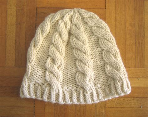 free knitting patterns for chunky wool hats chunky cable hat free pattern tin can knits