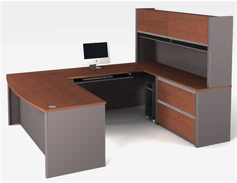 bestar connexion u shaped desk and hutch