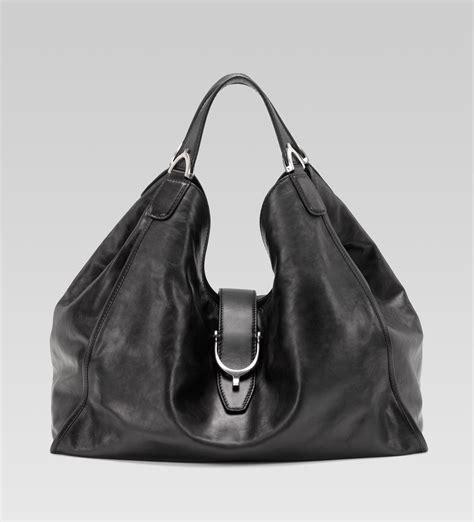 black leather the shoulder bag gucci soft stirrup shoulder bag black washed leather all handbag fashion
