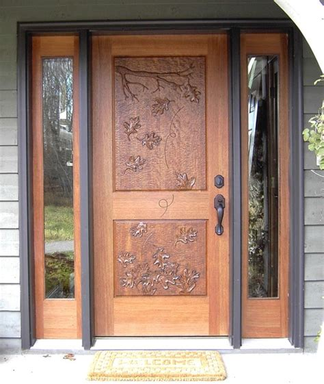 carved front doors mahogany entrance with carved door traditional
