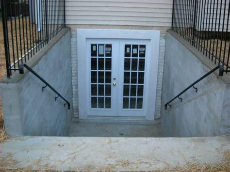 outdoor basement doors tricks for installing walkout basement doors and