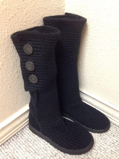 ugg australia classic cardy knit boot ugg australia classic cardy black knit sweater boot