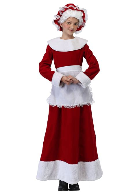 size mrs claus mrs claus costume for