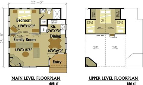 small house floor plans with loft small cabin floor plans with loft simple small house floor