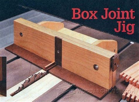 woodworking jig plans free box joint jig plans joinery tips jigs and techniques