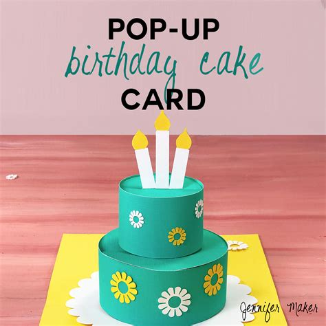 how to make birthday cake pop up card how to make a pop up birthday cake card maker