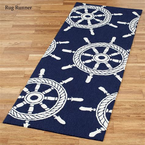 nautical rugs ship wheel nautical indoor outdoor rugs by liora manne