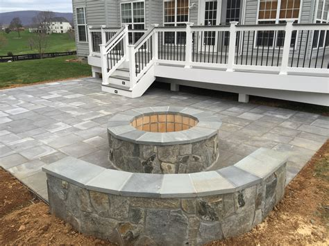 paver patio with pit a beautiful paver patio with seating walls and a
