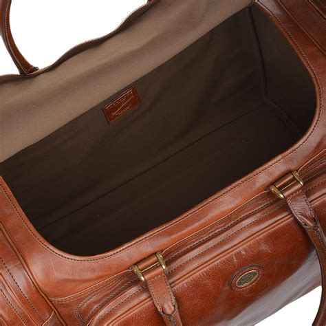 large for leather the bridge large italian leather holdall brown