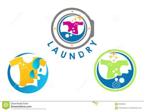 laundry logo design stock vector image 69205326