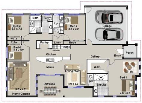 4 bedroom house designs australia australian house floor plans 4 bedroom plan 246 4 bed
