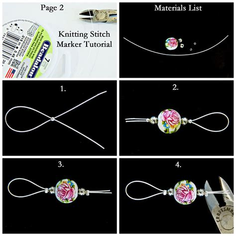 how to make one stitch knitting how to make gorgeous stitch markers melody s makings