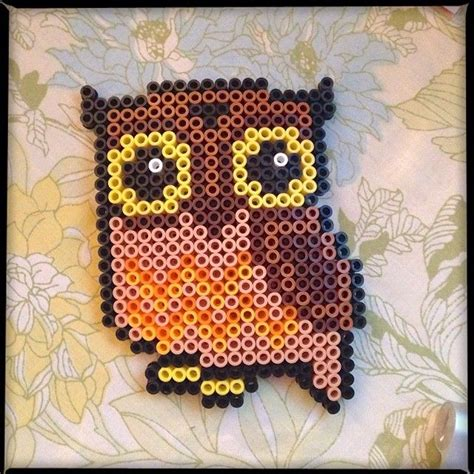 hama iron temperature perler bead owl pattern car interior design