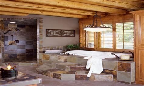 Log Home Bathroom Ideas by Log Home Master Bedrooms Log Home Bathroom Log Cabin
