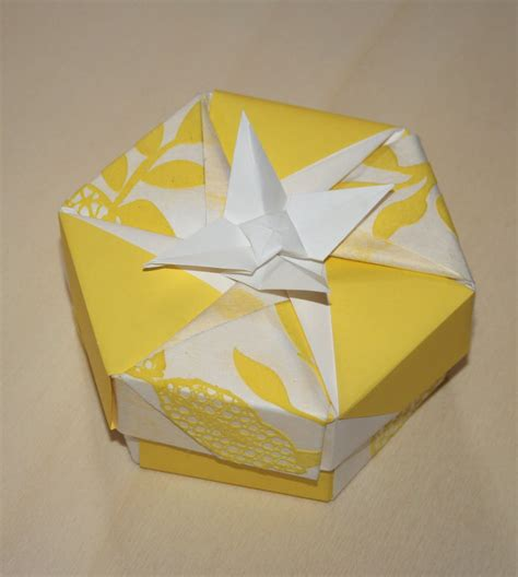 origami collapsible box origami constructions heptagonal origami box folding