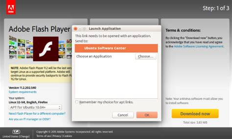flash install install flash player for firefox on ubuntu 15 10 directly