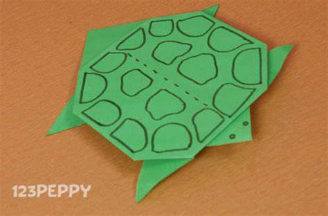 how to make an origami turtle step by step origami crafts project ideas 123peppy