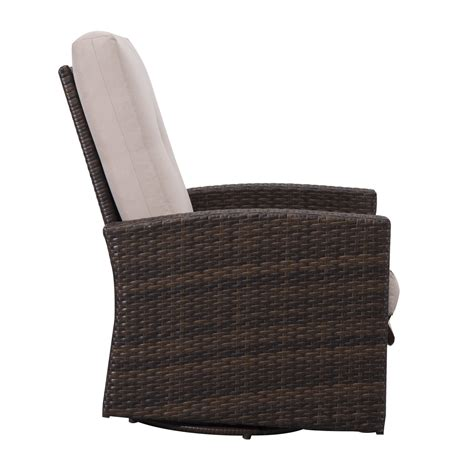 outdoor swivel rocking chairs outsunny rattan wicker swivel rocking outdoor recliner