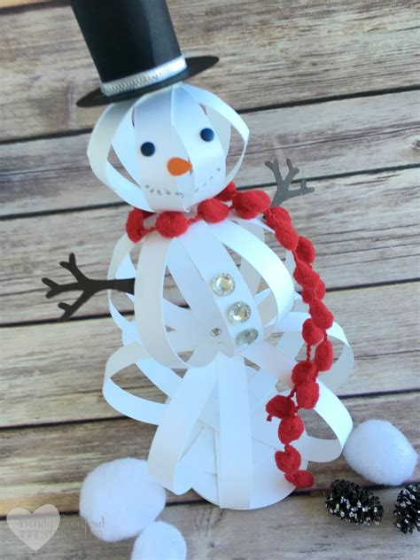 snowman crafts for to make how to make a snowman craft with paper strips the crafty