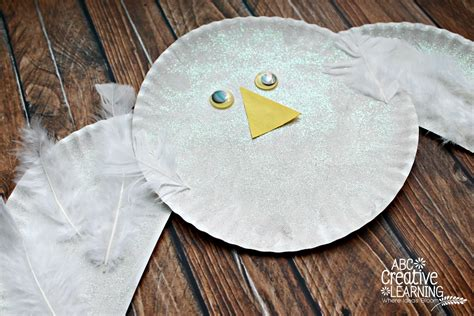 arctic crafts for paper plate snowy owl craft
