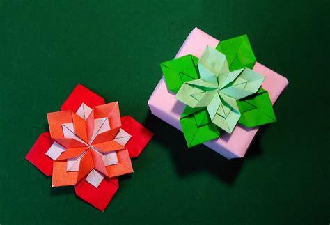 origami present origami 8 petals flower gift box decorating ideas