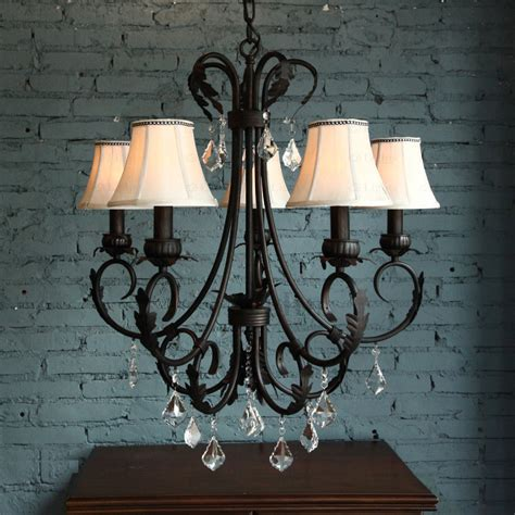 rustic chandeliers wrought iron pastoral 5 light wrought iron vintage chandelier