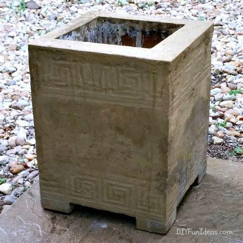 diy cement planters how to make a gorgeous diy concrete planter