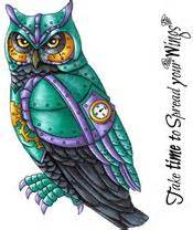 owl rubber st wise owl set