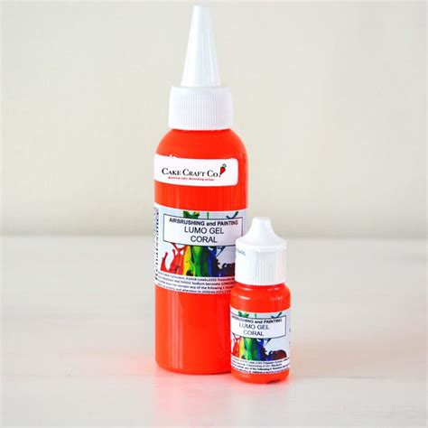 glow in the paint edible rolkem coral orange lumo sugarcraft edible cake decorating