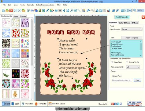 software for greeting cards greeting card maker software generatebarcode