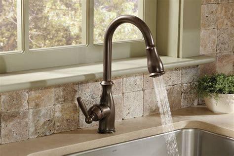 moen brantford kitchen faucet moen 7185orb brantford one handle high arc pulldown