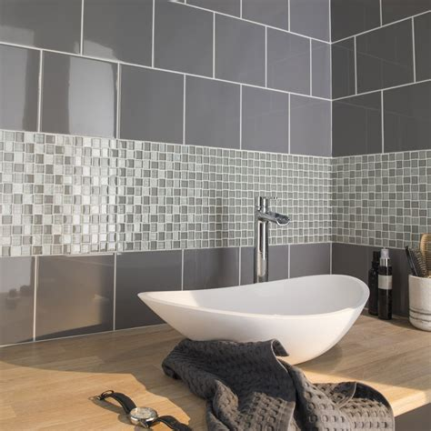 fa 239 ence mur gris galet astuce l 20 x l 20 cm leroy merlin