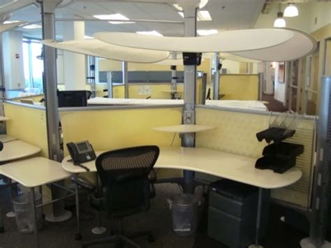 office desk light cubicle shield from fluorescent lights modern office