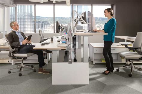 standing office desk furniture join the brave new office trend with standing desks tangram