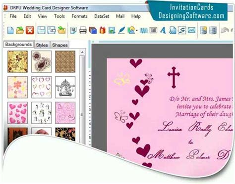 software for cards and invitations free wedding card software by invitation cards