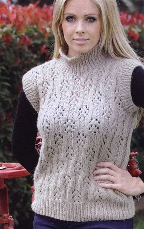 sleeveless sweater knitting pattern sweater vest knitting pattern myideasbedroom