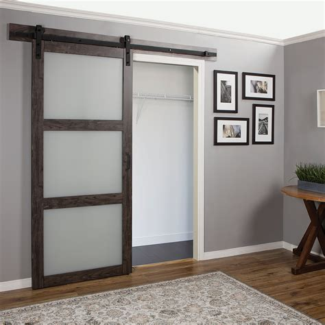 frosted glass barn door erias home designs continental frosted glass 1 panel