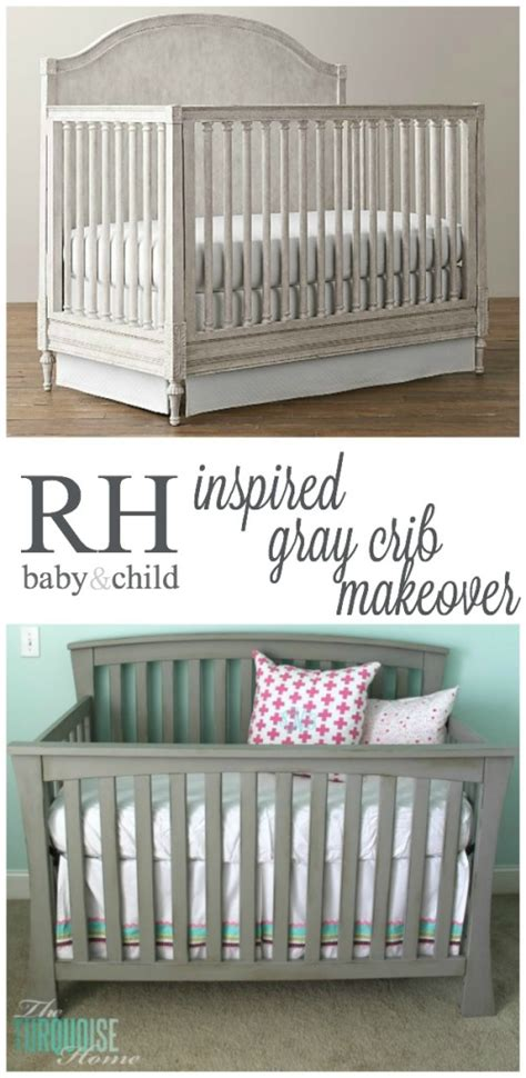restoration hardware baby cribs beautiful gray crib makeover with sloan chalk paint