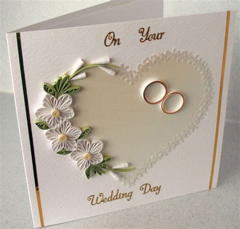 how to make paper quilling greeting cards quilled wedding congratulations card