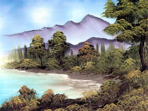 bob ross landscape paintings colorful landscape paintings by bob ross from america
