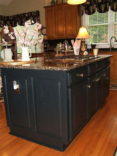 kitchen islands oak painting an oak island black hometalk