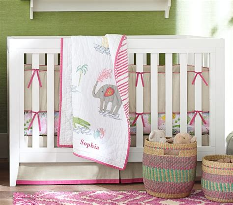 jungle nursery bedding sets jungle safari baby bedding set bright pink pottery barn