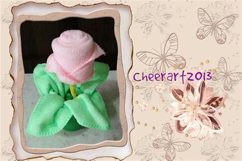 towel origami flower diy 毛巾玫瑰towel