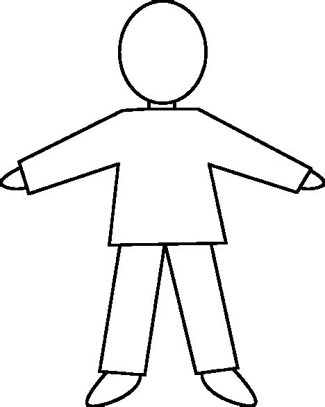 templates for children to make b outline of child to make a glyph classroom ideas