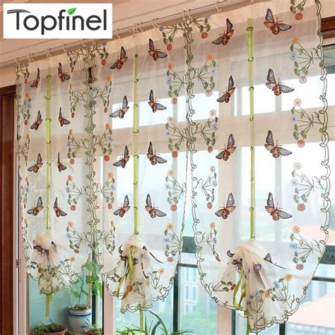 popular butterfly kitchen curtains buy cheap butterfly