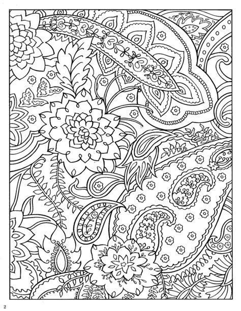 Paisley Coloring Page Coloring Page For