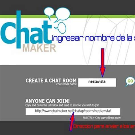 crear sala de chat chatmaker crear una sala de chat en segundos nestavista